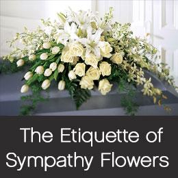 Sympathy floral etiquette