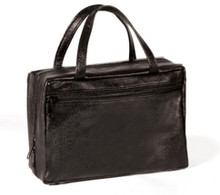 Avery Faux Leather: Black - Regular Scripture Tote *