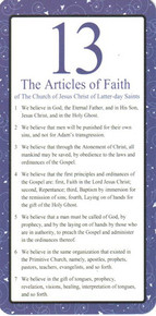 Articles of Faith Vinyl-Coated Bookmark (Package of 10) *