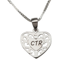 CTR Necklace (Silver Heart) *