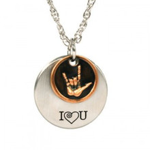I Love You American Sign Language Necklace *
