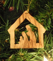 Stable with Nativity Olive Wood from Bethlehem 2""