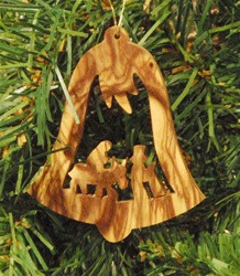 "Flight to Egypt in Bell Olive Wood from Bethlehem 2"" *"
