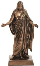 Bronze-Finish Christus Statue 10""