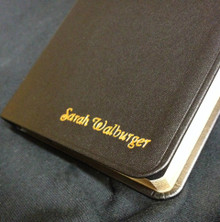 Embossing on Scriptures, Hymn Books & Journals