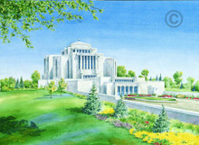 Cardston Alberta Temple Sketch 3x4