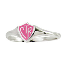 "Pink Mini CTR Ring ""Classic"" design; Sterling Silver *"
