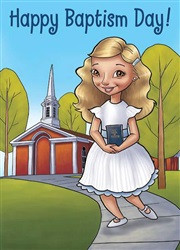 Girls Happy Baptism Day Cards *