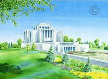 LDS Cardston Alberta Temple - Chad Hawkins Temple Sketch - 5x70 Print