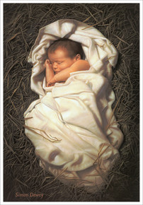 For Unto Us A Child Is Born  3x4 *