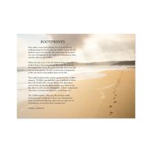 Footprints Poem  5x7 Print only  NEW *