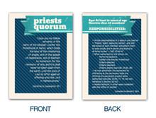 Priests Quorum Pocket Card