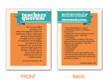 Teachers Quorum Pocket Card