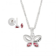 Child of God Butterfly Necklace & Earring Set