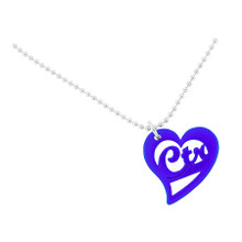 "Necklace ""CTR Love Heart""  Blue *"