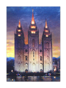 "Print  ""Beacon of Light"" Salt Lake Temple Art Print - 5""x7"" *"