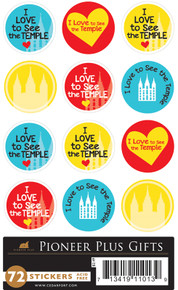 Stickers I Love to See The Temple *