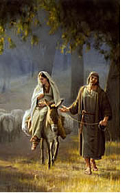 Journey To Bethlehem Detail by Joseph Brickey  5X7 Print *