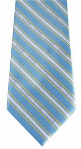 Tie, CTR Boys Striped Blue/Yellow Adjustable Clip *