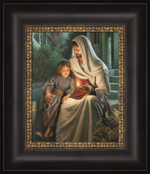 Ye Are The Light Of The World 12x14 Framed Strata Design by Simon Dewey   *