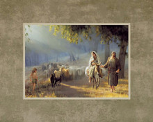 Journey To Bethlehem 11x14 Print by Joseph Brickey.  Mats may vary *