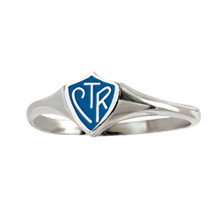 "Mini"" Classic design"" CTR Ring - Blue (Stainless Steel)*"