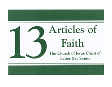 Articles of Faith Vinyl-Coated Bookmark (Pack of 12) *