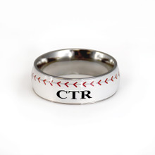 Baseball CTR Ring Stainless Steel *