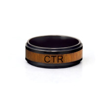 Frontier CTR Ring Ceramic With Wood Inlay.*
