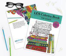 LDS Coloring Book For Adults  (Paperback) *