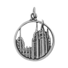 Salt Lake City Temple Charm (Round) *