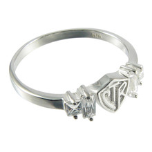 Baguette CTR Ring - Plain (Sterling Silver) *