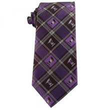Captain Moroni Purple Plaid Boy Zipper Tie ages 4-10