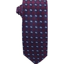 Burgundy Missionaries on Bikes Boy`s Zipper Tie ages 4-10
