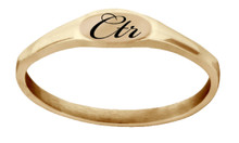 """Pixi"" Rose Gold CTR Ring Flat Top *"