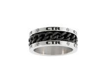 "CTR Ring ""Lynx"" Stainless Steel w/Black Chain Spinner *"