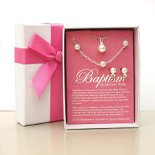 Baptism Testimony Pearl Set  *