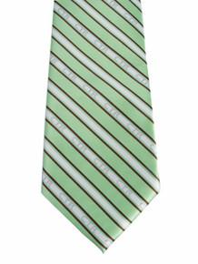 Tie, CTR Men's Striped Green/Brown *