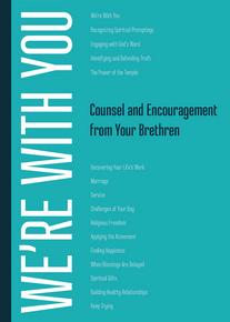 We're With You: Counsel and Encouragement from Your Brethren (Paperback) *
