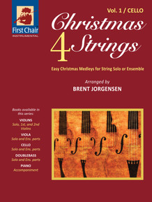 Christmas 4 Strings - Vol.1 - Cello (Paperback) *