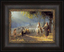 Journey To Bethlehem 20x16 framed Strata Design  *