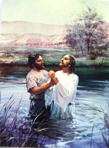 John Baptizing Jesus  (Greeting Card)*