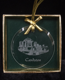 Glass Temple Ornament Etched Cardston