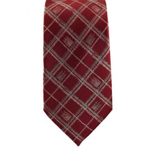 Salt Lake Temple Red Plaid Tie *