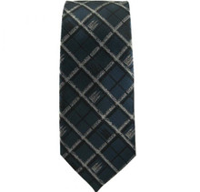 Salt Lake Temple Navy Plaid Tie *