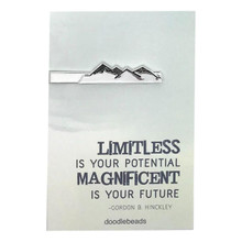 Limitless Is Your Potential Mountain Tie Bar *
