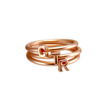 Stackable Letters CTR Ring   (Rose Gold Finish)