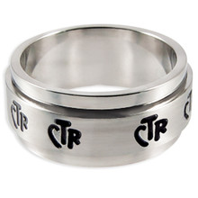 Spinner Wide Band CTR Ring (Stainless Steel) *
