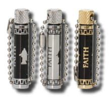 Christus/Faith Oil Vial - Black/Silver *
