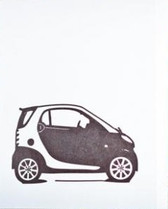 SMART Car Letterpress Greeting Card